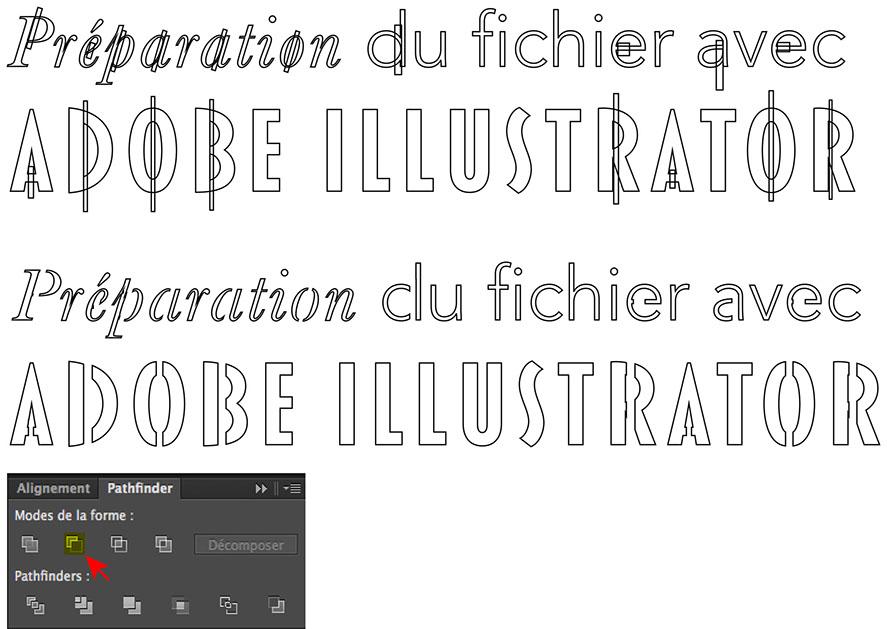 Préparation Du0027un Pochoir Avec Adobe Illustrator